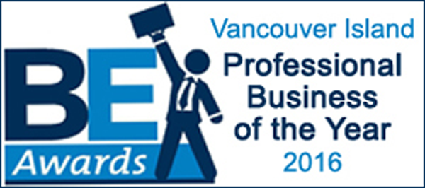 BE Awards - Vancouver Island Professional Business of the Year 2016